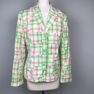 Lilly Pulitzer plaid blazer
